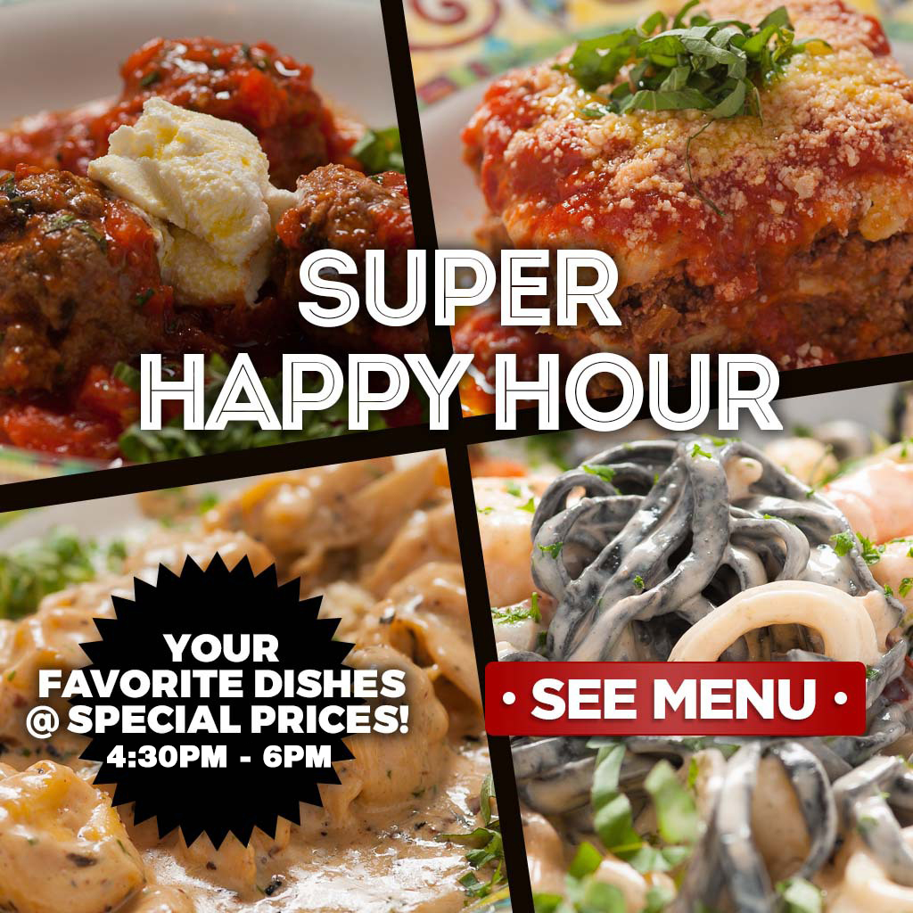Super Happy Hour - See Menu