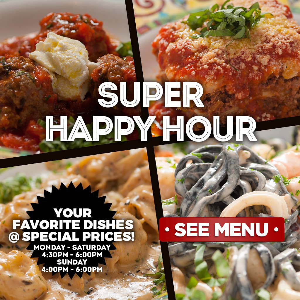 Super Happy Hour - See Menu